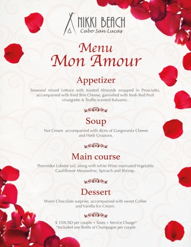 Romantic dinner me cabo menuromanticdinnermonamour menuromanticdinnerbouquet stopboris Images
